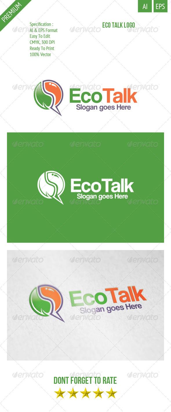 GraphicRiver Eco Talk Logo 8174631