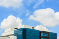 Building on clouds and blue sky background - PhotoDune Item for Sale