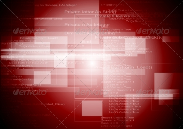 GraphicRiver Abstract Red Tech Background 8174848