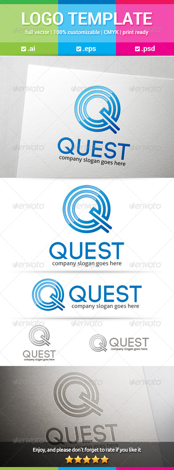 GraphicRiver Quest Letter Q Logo 8174853