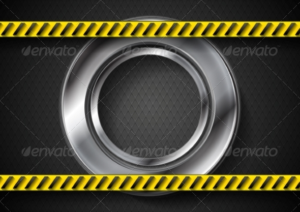 GraphicRiver Abstract Tech Background with Danger Tape 8174856