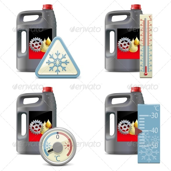 GraphicRiver Vector Winter Oil Icons 8174918