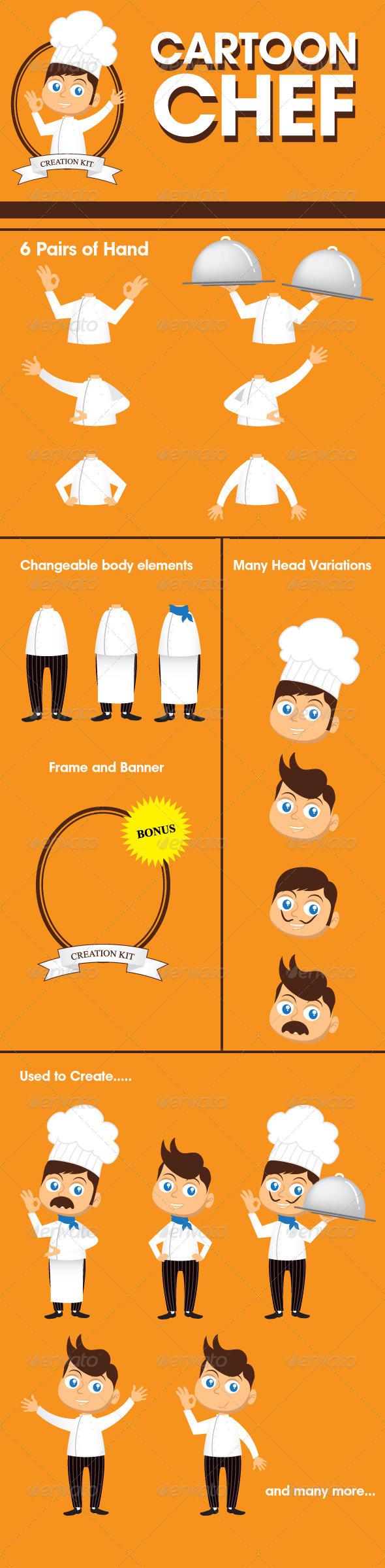GraphicRiver Chef Mascot Creation Kit 8169000