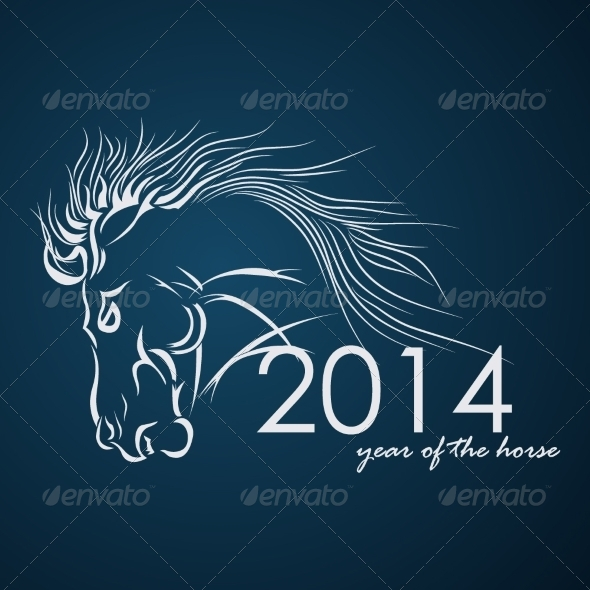 GraphicRiver 2014 Year of the Horse Vector Illustration 8174951