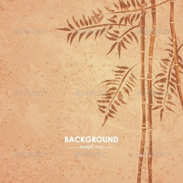 GraphicRiver Grunge Bamboo Background 8175004