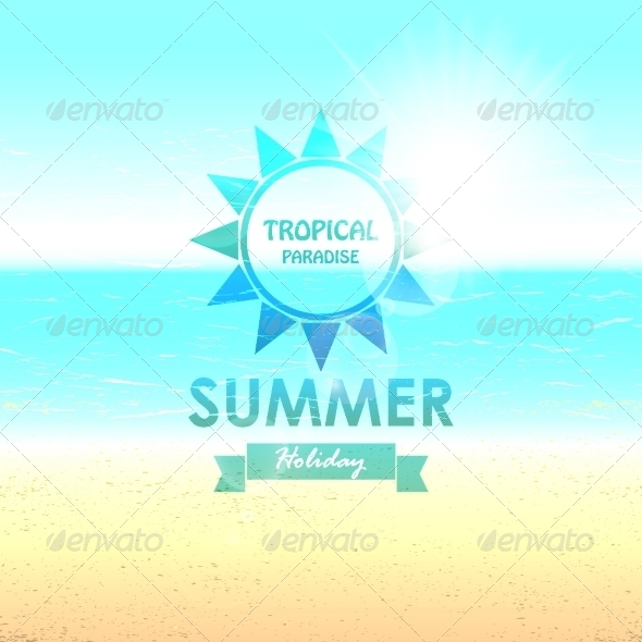 GraphicRiver Summer Background with Sunny Beaches 8175052