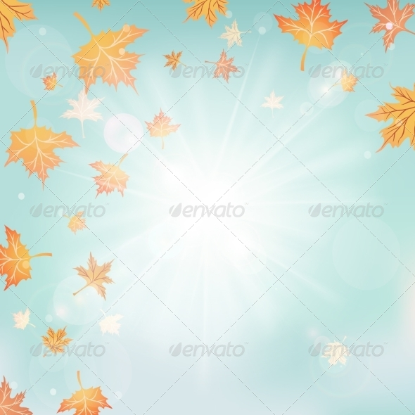 GraphicRiver Autumn Sunny Nature Background 8175095