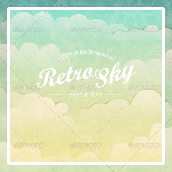 GraphicRiver Retro Vintage Style Sky Vector Background 8175099