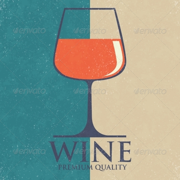 GraphicRiver Retro Wine List Design Vector Illustration 8175104