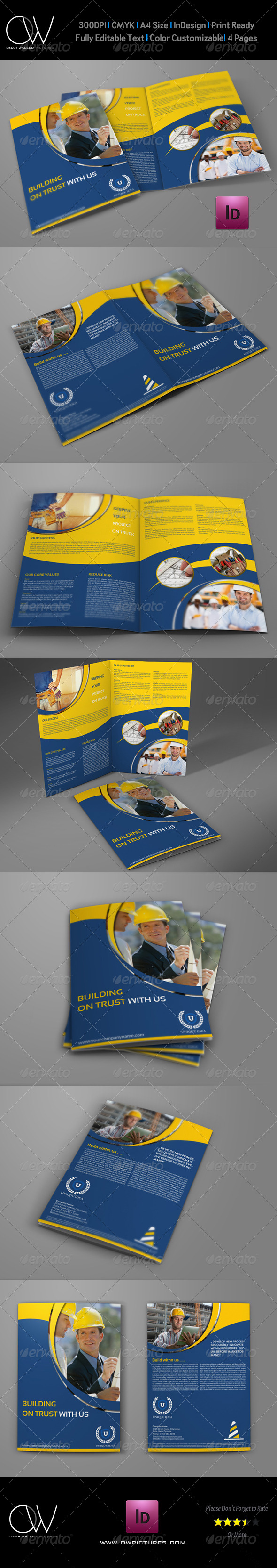 GraphicRiver Construction Company Brochure Bi-Fold Template 8175130