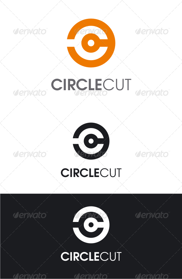 GraphicRiver Circle Cut Letter C Logo 8175137