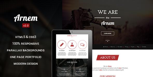 Arnem - Creative One Page Parallax Theme - Drupal CMS Themes