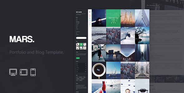 Mars: Portfolio and Blog Template