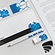 Blue Polygons Stationary Pack 04 - GraphicRiver Item for Sale