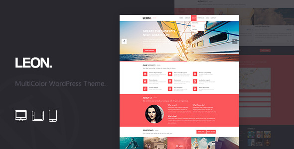 Leon: MultiColor Responsive HTML5 WordPress Theme