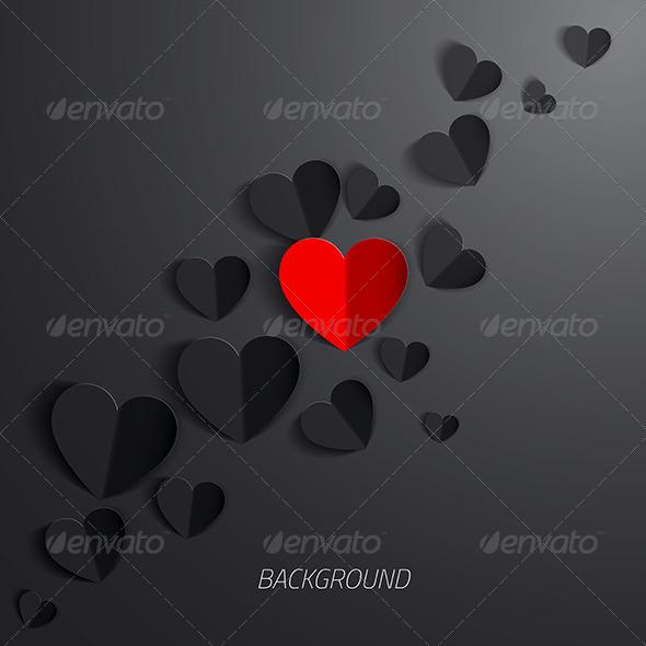 Paper Heart Love Card