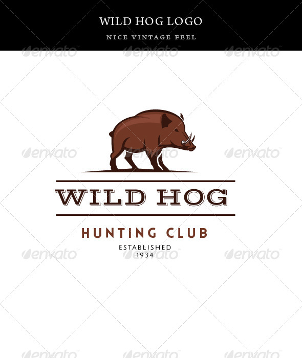 GraphicRiver Vintage Wild Hog Logo Template 8175935