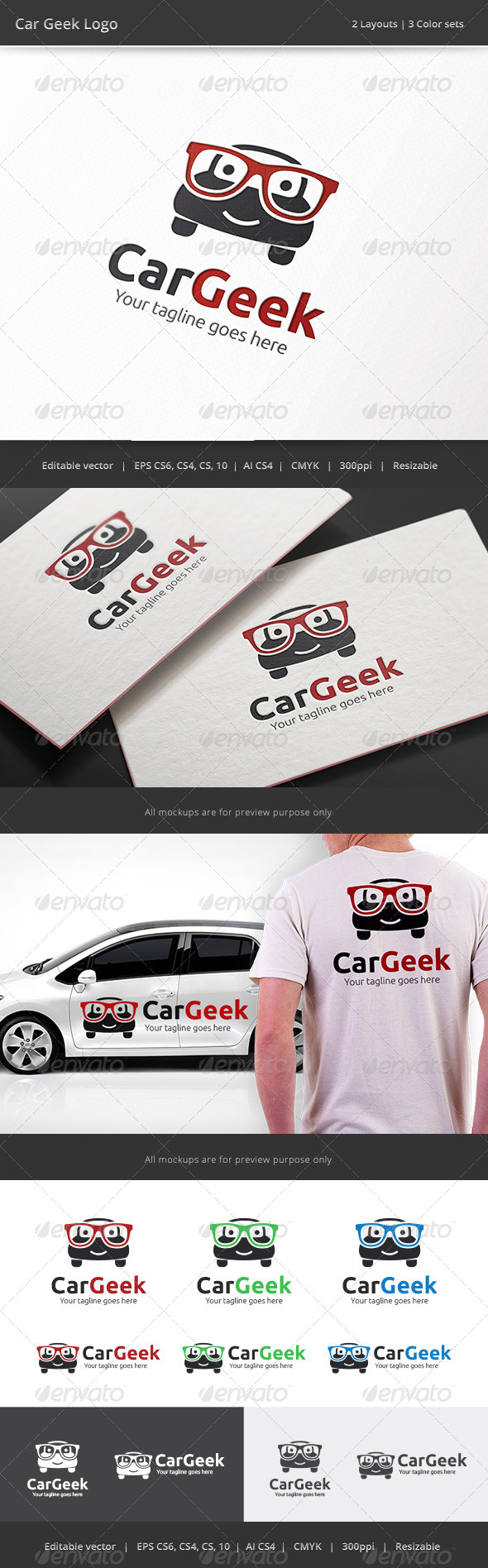 GraphicRiver Car Geek Logo 8176097