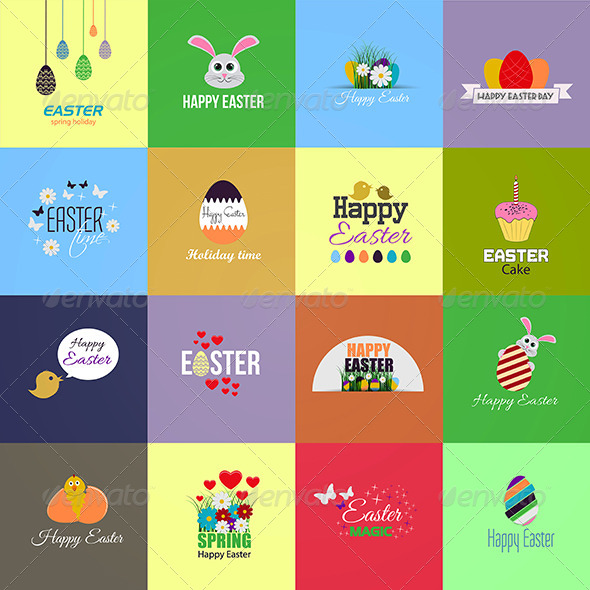 GraphicRiver Easter Cards Collection 8176600