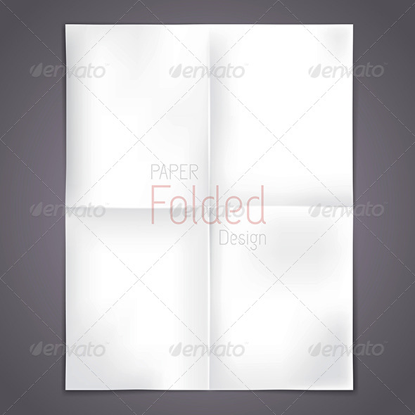 GraphicRiver White Folded Paper 8176609