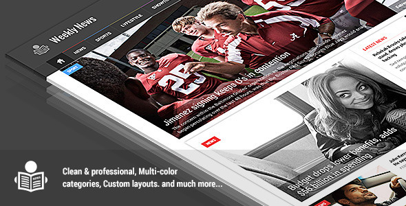 ThemeForest Weekly News Responsive News Magazine Template 8122934