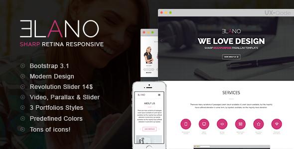 ThemeForest Elano Sharp Multi-Purpose Responsive Template 8086742