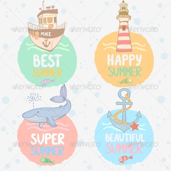GraphicRiver Marine Labels 8177510