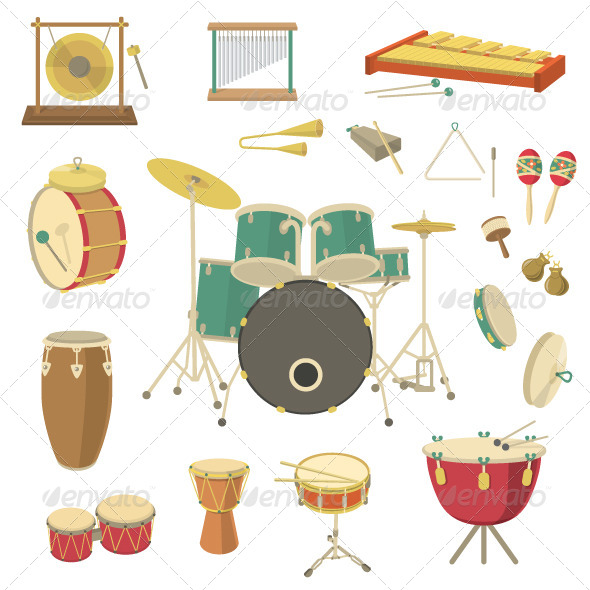 GraphicRiver Percussion Musical Instruments 8177932