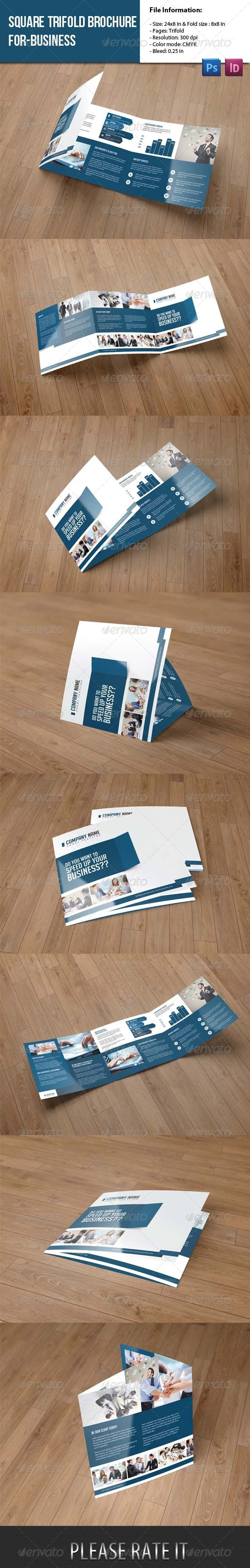 GraphicRiver Square Trifold Brochure for Business 8177937