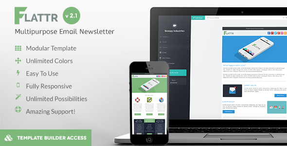 Flattr - Flat Corporation Email Template - Newsletters Email Templates