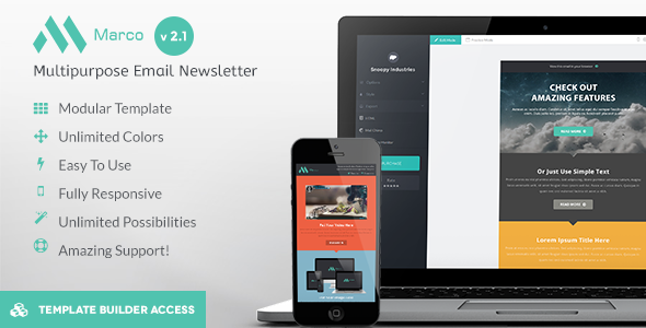 Marco - Modern Email HTML Template  - Newsletters Email Templates