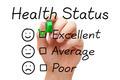 Excellent Health Status Survey - PhotoDune Item for Sale