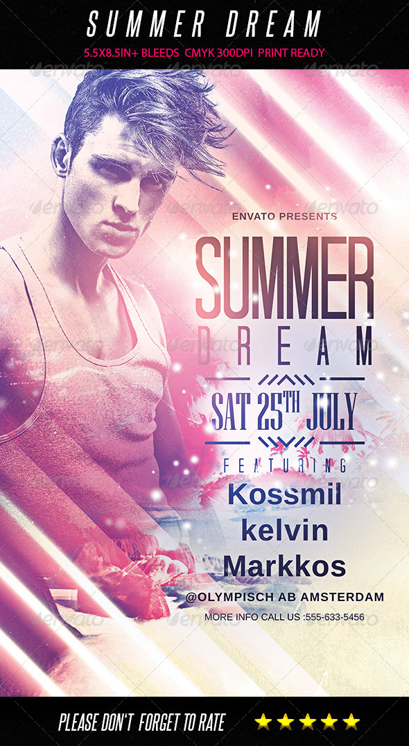 GraphicRiver Summer Dream Flyer 8178124