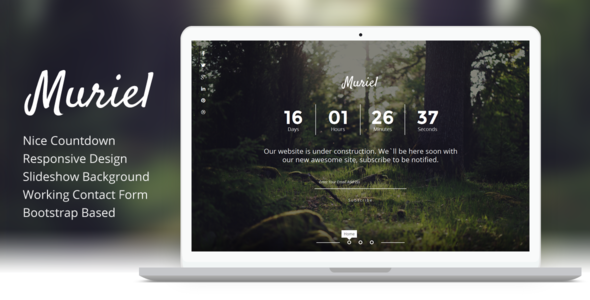 ThemeForest Muriel Responsive Coming Soon Template 8135427