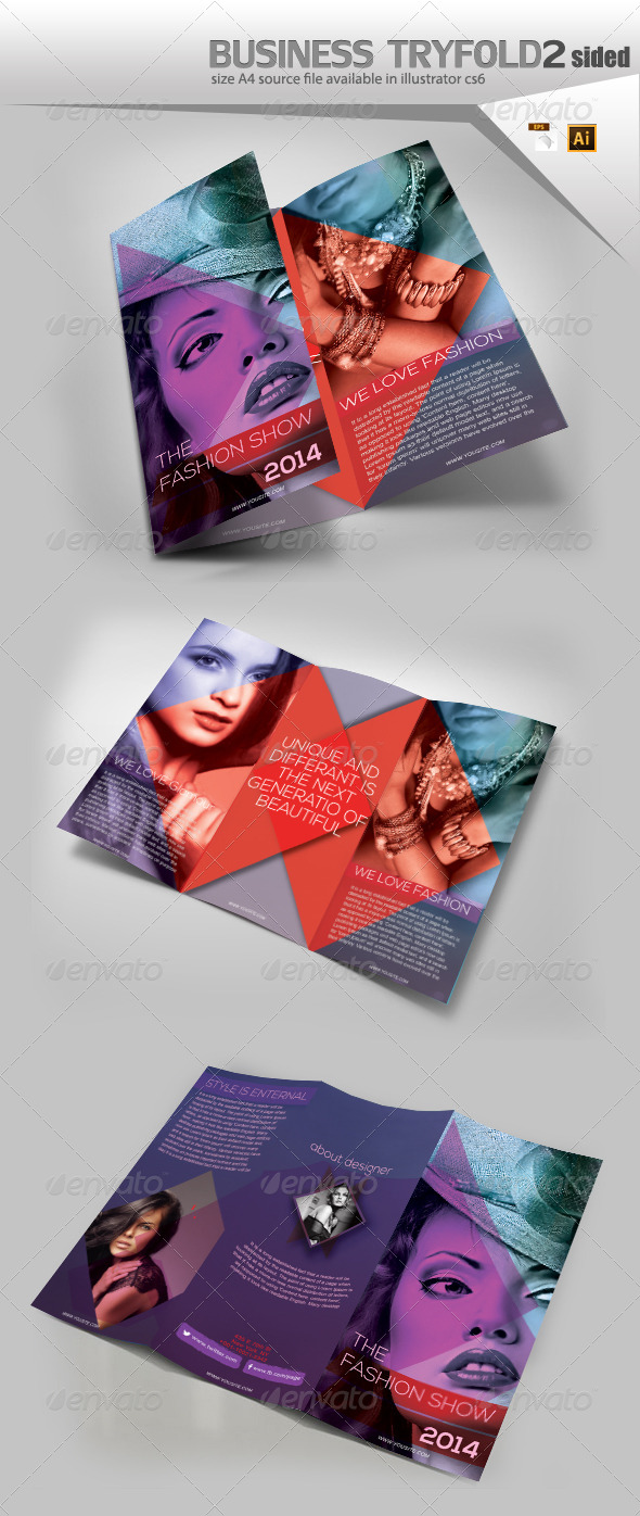 GraphicRiver Fashion Trifold Brochure 8178196