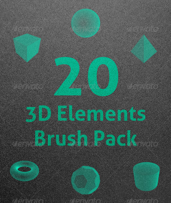 GraphicRiver 3D Elements Photoshop Brushes 8178200