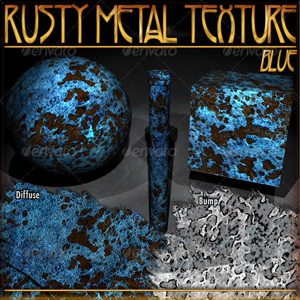 3DOcean Rusty Metal Texture Blue 8178225