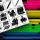 Retro Line Brush Set - GraphicRiver Item for Sale