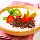 Semolina pudding served with fresh fruit and grated chocolate - PhotoDune Item for Sale