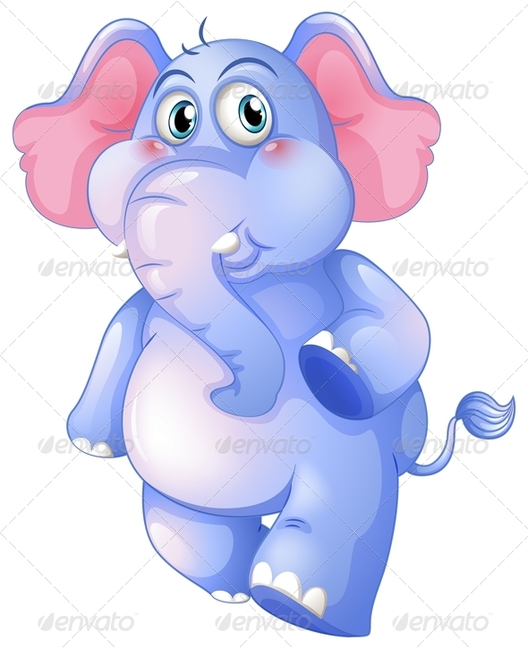 GraphicRiver Young Blue Elephant 8178742