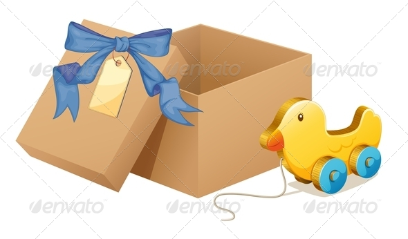GraphicRiver Toy Duck with Box 8178864