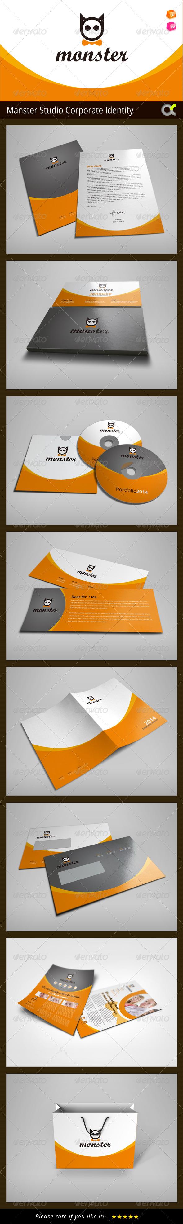 GraphicRiver Manster Studio Corporate Identity 8178944