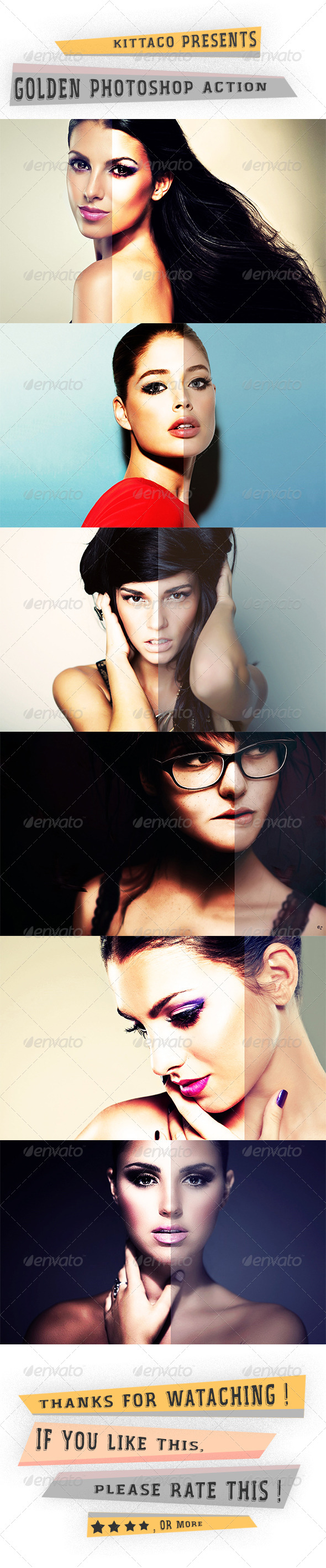 GraphicRiver Golden Photoshop Action 8179148