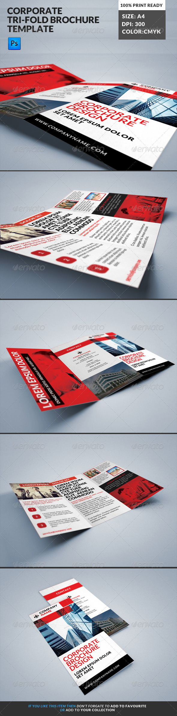 GraphicRiver Corporate Tri-Fold Brochures Template 15 8179388