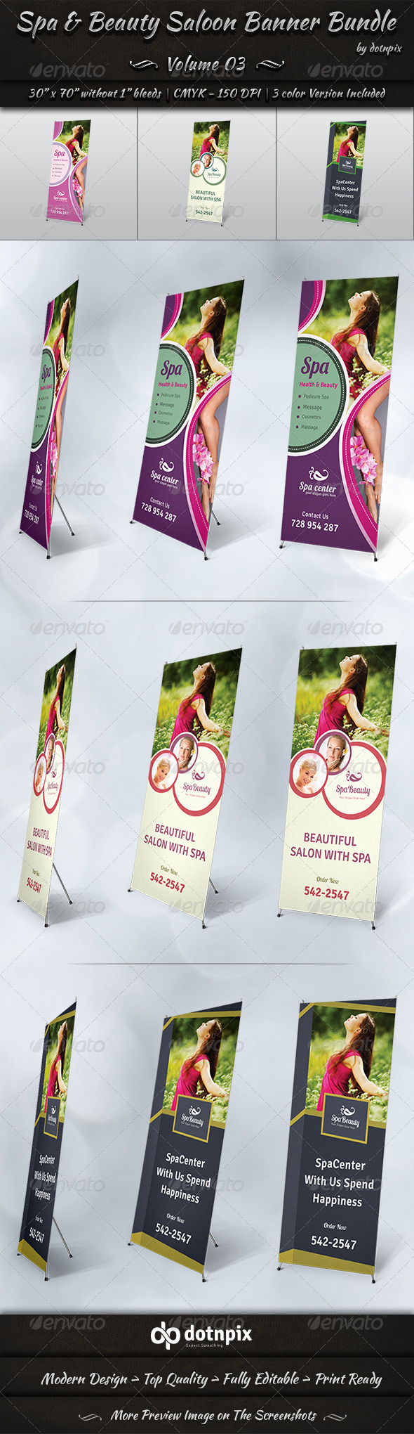 GraphicRiver Spa & Beauty Saloon Banner Bundle Volume 3 8179676