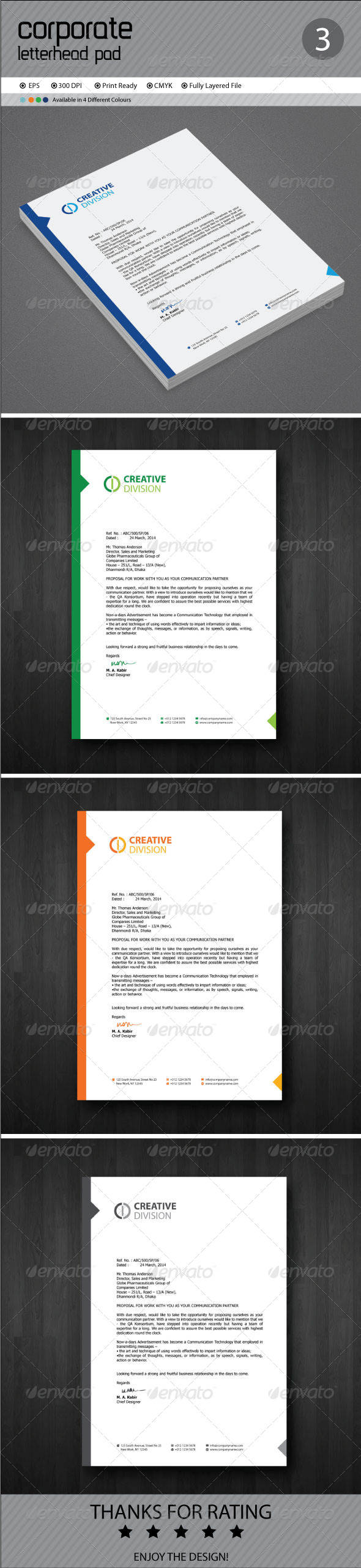 GraphicRiver Corporate Letterhead 8179702