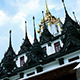 Buddhist Temple Metallic Castle in Bangkok - VideoHive Item for Sale
