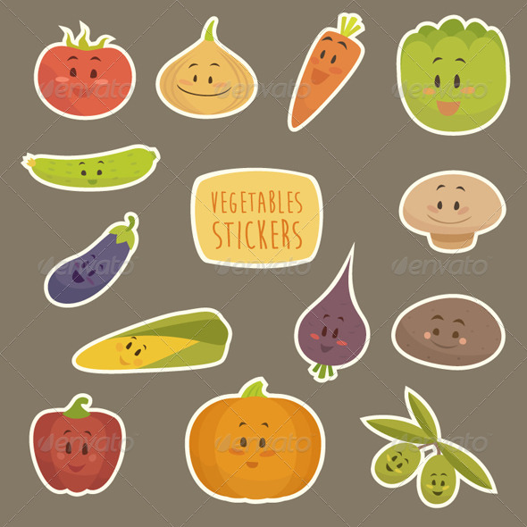 GraphicRiver Cartoon Vegetables 8179732