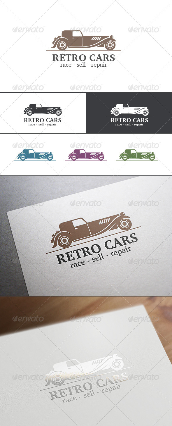 GraphicRiver Retro Vintage Car Abstract Logo 8179956