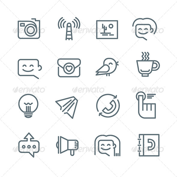 GraphicRiver Communication and Networking Icons 8179966
